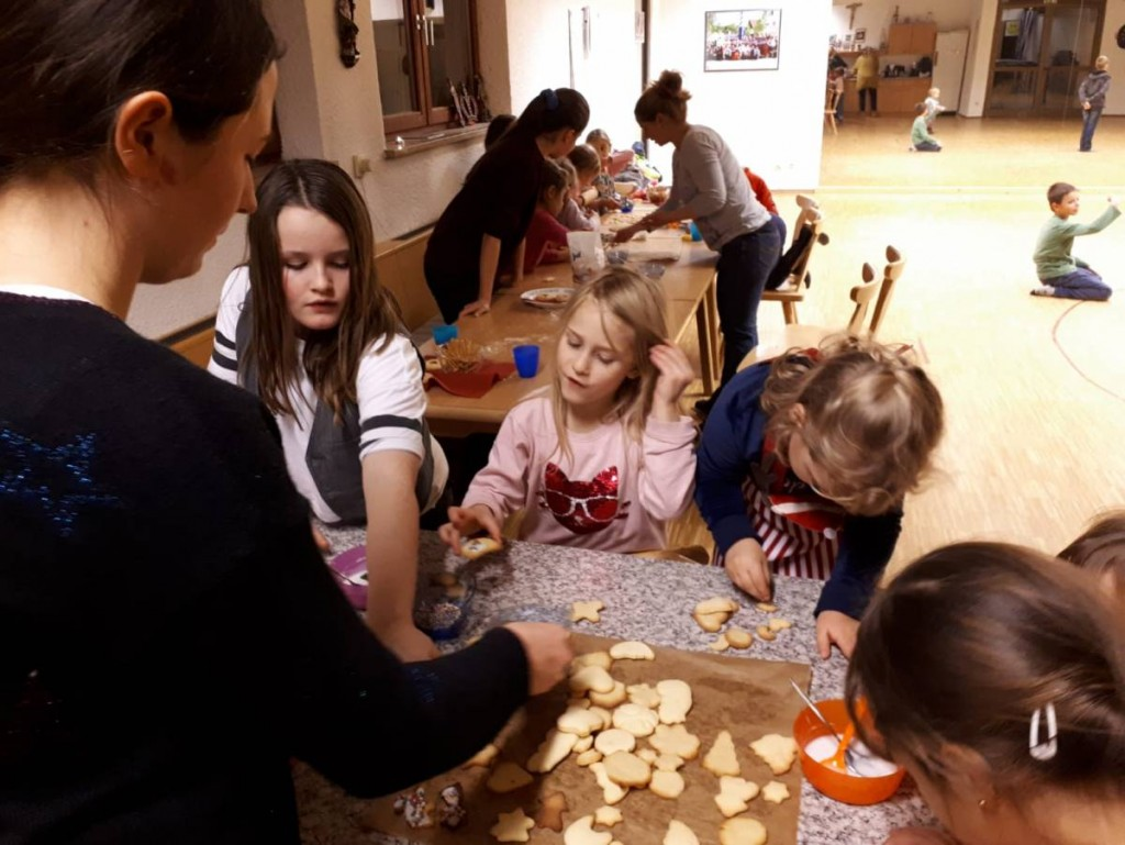 Weihnachtsfeier der Kindertanzgruppe